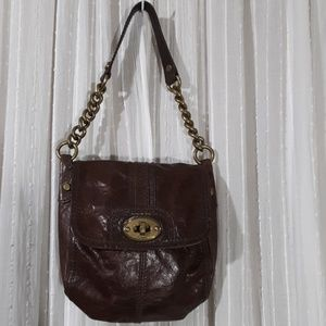 Fossil Handbag with Chainlink Strap